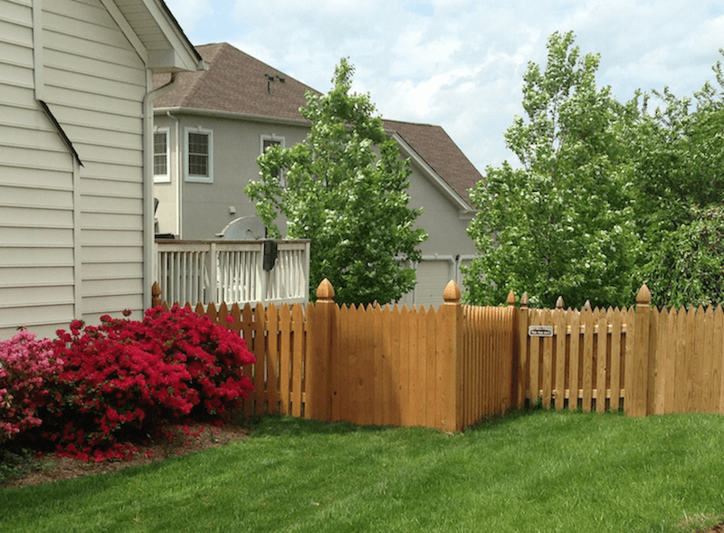 Wooden Fence in residential backyard