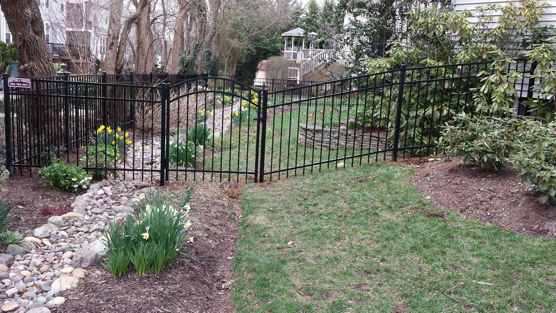 Aluminum Fence in Garden